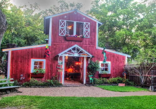 The Exterior of the Red Barn Game Room