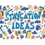 mural of staycation pictures