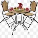 Bistro table with coffee service