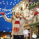 lady enjoying holiday shopping