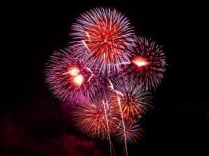 red and purple fireworks