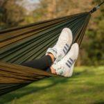 best Tyler staycation feet up in hammock