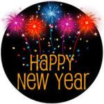 Happy New Year w/ fireworks