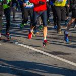 runners feet on the street